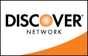 Discover Card with white and orange