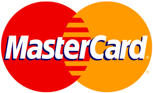 Mastercard logo with orange and red