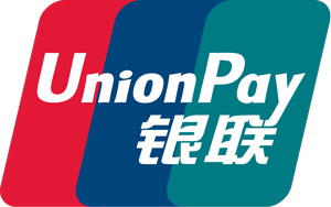 Union Pay logo with blues and red